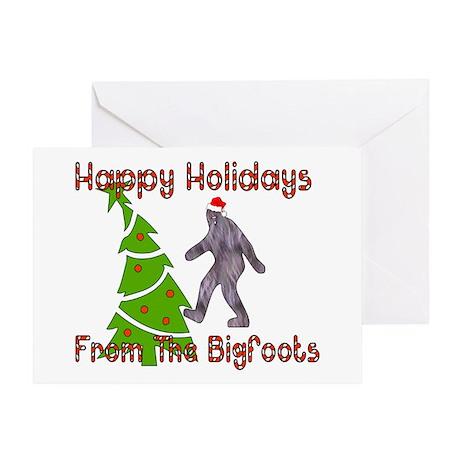 Bigfoot Christmas Greeting Card