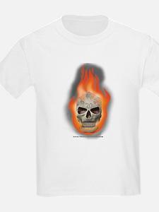 Flaming Die Skull T-Shirt