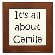Funny Camila Framed Tile