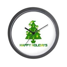 Alien Christmas Tree Wall Clock
