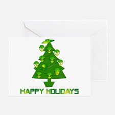 Alien Christmas Tree Greeting Card