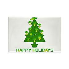 Alien Christmas Tree Rectangle Magnet