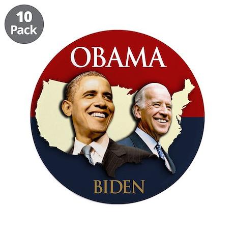 """Obama/Biden USA-2 3.5"""" Button (10 pack)"""