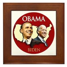 Obama/Biden USA-3 Framed Tile