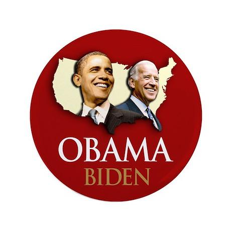 """Obama/Biden USA-5 3.5"""" Button (100 pack)"""