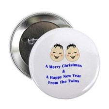 "Merry Christmas_Twins 2.25"" Button"