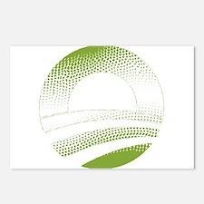 Obama Logo Green Gradient-Rough Edges Postcards (P