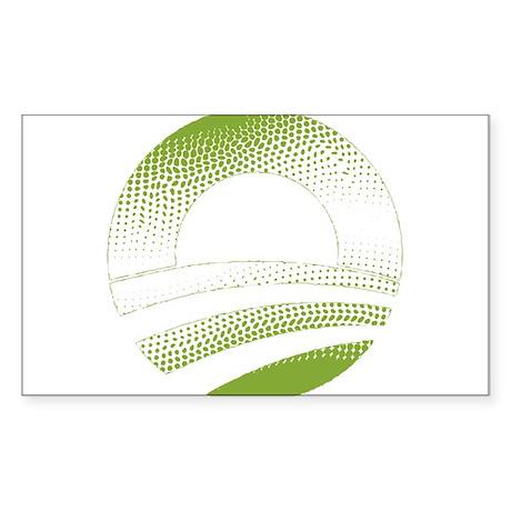 Obama Logo Green Gradient-Rough Edges Sticker (Rec