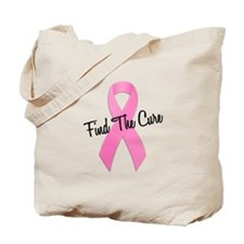 Pink Ribbon Find The Cure Tote Bag