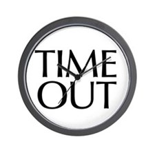 Time Out McCain Wall Clock