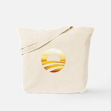 Obama Logo Sunset Tote Bag
