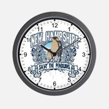 Save the Penguins New Hampshire Wall Clock
