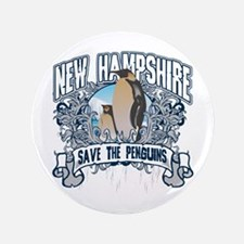 """Save the Penguins New Hampshire 3.5"""" Button"""