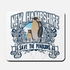 Save the Penguins New Hampshire Mousepad