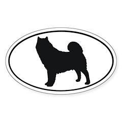 Alaskan Malamute Oval Sticker (50 pk)