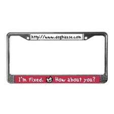 Cute Rescued my human License Plate Frame