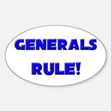Generals Rule! Oval Decal