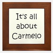 Cool Carmelo Framed Tile