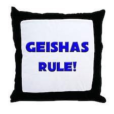 Geishas Rule! Throw Pillow