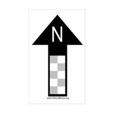 Archaeology north arrow Rectangle Decal