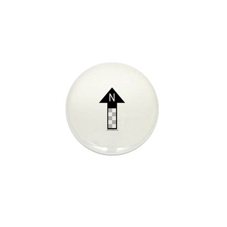 Archaeology north arrow Mini Button