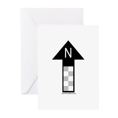 Archaeology north arrow Greeting Cards (Package of