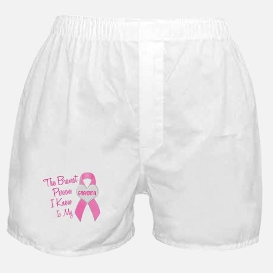 Bravest Person PINK (Grandma) Boxer Shorts