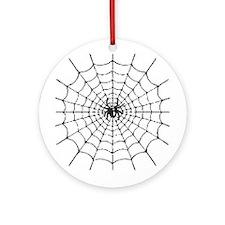 Spider Web Halloween Keepsake (Round)