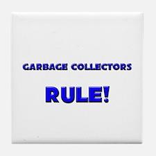 Garbage Collectors Rule! Tile Coaster