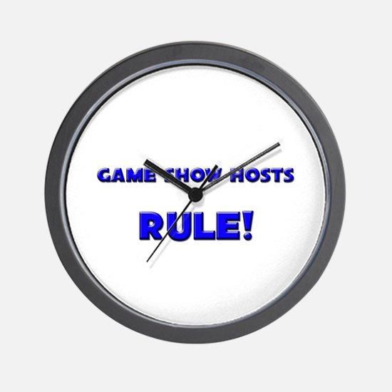 Game Show Hosts Rule! Wall Clock