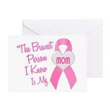Bravest Person PINK (Mom) Greeting Card