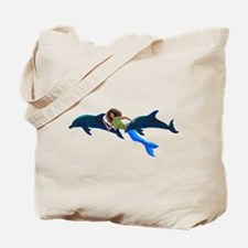 Dolphin Kicks Tote Bag