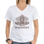 Vintage Bulgaria Women's V-Neck T-Shirt