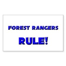Forest Rangers Rule! Rectangle Decal