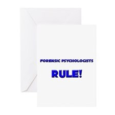 Forensic Psychologists Rule! Greeting Cards (Pk of