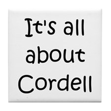 Funny Cordell Tile Coaster