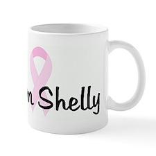 Team Shelly pink ribbon Mug