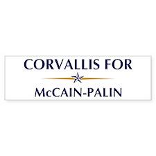 CORVALLIS for McCain-Palin Bumper Bumper Bumper Sticker