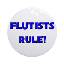 Flutists Rule! Ornament (Round)