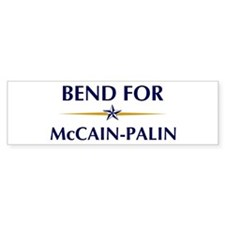 BEND for McCain-Palin Bumper Bumper Sticker
