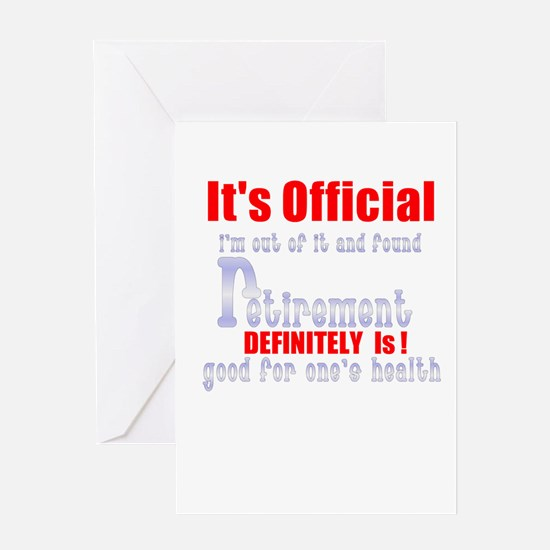 It's Official Retirement. Greeting Card