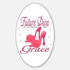 Future Diva Grace Oval Decal