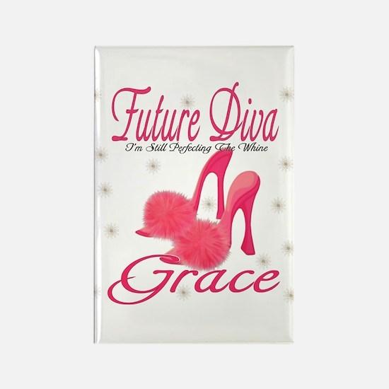 Future Diva Grace Rectangle Magnet