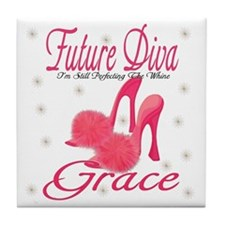 Future Diva Grace Tile Coaster