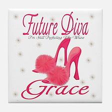 Future Diva Grace Tile Coaster