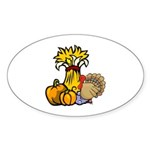 Thanksgiving Harvest Oval Sticker (50 pk)