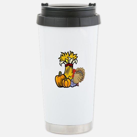 Thanksgiving Harvest Stainless Steel Travel Mug