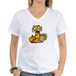 Thanksgiving Harvest Women's V-Neck T-Shirt