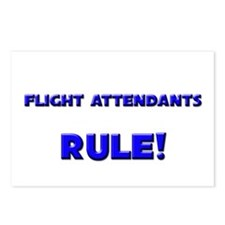 Flight Attendants Rule! Postcards (Package of 8)