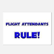 Flight Attendants Rule! Postcards (Package of 8)